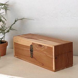 Vintage Handmade Cedar Jewelry Keepsake Hinged Box
